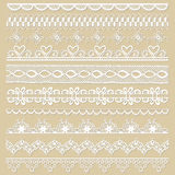 Set of lace ribbons Stock Photography