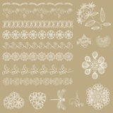 Set of lace ribbons Stock Photo