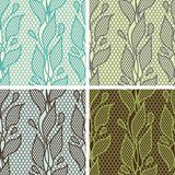 Set of lace seamless patterns with abstarct Stock Photos