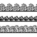 Set of lace vector borders Royalty Free Stock Photography