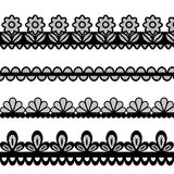 Set of lace vector borders Stock Image