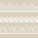 Set of lace vector borders. Set of white lace vector borders Stock Photos