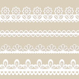 Set of lace vector borders Royalty Free Stock Photo