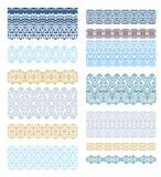Set of laced borders Royalty Free Stock Photography