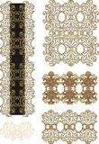 Set of decorative laced border elements Royalty Free Stock Photo