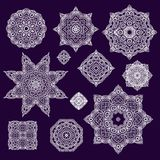 Set of laced decorative rosettes- snowflakes Stock Images
