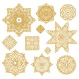Set of laced decorative rosettes- snowflakes Stock Photos