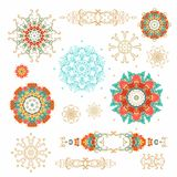 Set of  laced rosettes and vignettes Royalty Free Stock Photos
