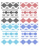 Set of laces isolated over white Royalty Free Stock Photo