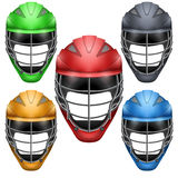 Set of Lacrosse Helmets Stock Image