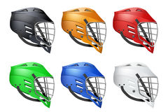 Set of Lacrosse Helmets Royalty Free Stock Photography