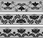 Set of lacy borders Stock Photos