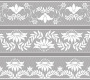 Set of lacy borders Royalty Free Stock Image