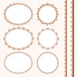 Set of lacy napkins Stock Photos