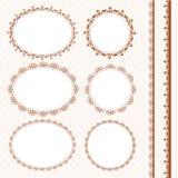 Set of lacy napkins Stock Photos