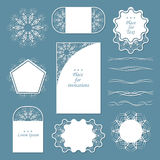 A set of lacy napkins. It can be used as frames, design for tags. Separators for registration of your ideas Stock Photo