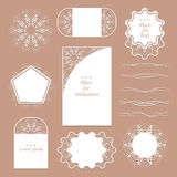 A set of lacy napkins. It can be used as frames, design for tags. Separators for registration of your ideas Stock Photography