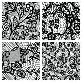 Set of lacy patterns. Stock Photo
