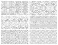 Set of lacy patterns. Stock Images