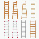 Set of ladders. Royalty Free Stock Image