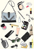 Set of ladies handbags Stock Image
