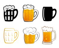 Set Lager beer icon. Royalty Free Stock Images