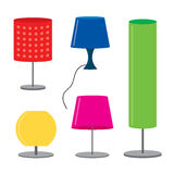 Set of lamp Furniture table lamps Vector illustration Stock Image