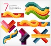 Set lampasów infographic szablony ilustracji
