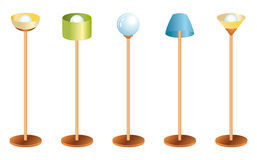Set of lamps Royalty Free Stock Photography
