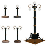 A set of lamps for illumination of streets, boulevards and parks Stock Image