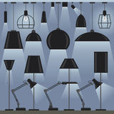 Set of lamps Stock Images