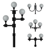 A set of lamps for street lighting. Group of Fine blanks for streetlights Stock Photo