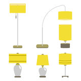 Set of lamps. Vector illustration lamp light isolated electric interior energy furniture. Royalty Free Stock Photos