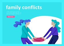 Set of Landing page templates for psyhology mental problems, depression panic attacks, paranoia anger control. Landing page templates for psyhology mental vector illustration