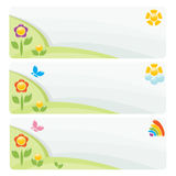 Set of landscape banner Stock Photo