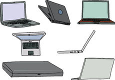 Set of Laptops Stock Photography