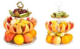 Set of large amount of fresh fruit on a isolated Stock Photography