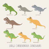 Set of Large carnivorous dinosaurs. Eps10 vector format vector illustration