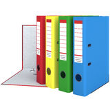 Set large office folders Stock Photo