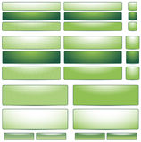 Set of green buttons for website Royalty Free Stock Image