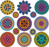 Set large and small mandalas Royalty Free Stock Photo