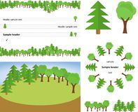 Set lasowi chodnikowowie Zdjęcie Royalty Free