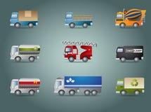 set lastbil för symbol Stock Illustrationer