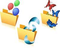 Set latanie przedmiot w folder-02 Zdjęcie Stock