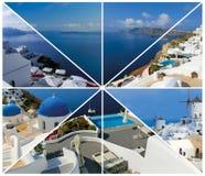 Set lato fotografie w Santorini, Grecja Zdjęcia Stock