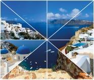 Set lato fotografie w Santorini, Grecja Fotografia Royalty Free