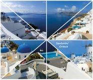 Set lato fotografie w Santorini, Grecja Zdjęcia Royalty Free