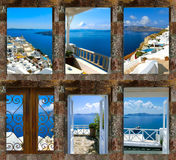 Set lato fotografie w Santorini, Grecja Obraz Royalty Free
