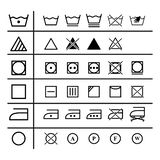 Set of the laundry instruction of icons. Set of the laundry instruction icons on the white background vector illustration