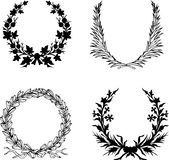 Set Of Laurel Wreath. Royalty Free Stock Photos